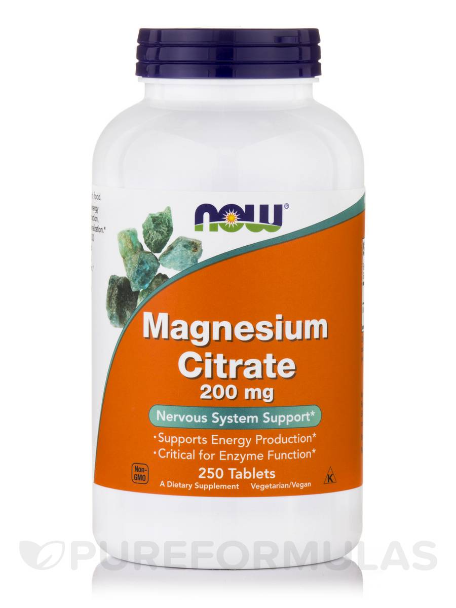 magnesium citrat NOW